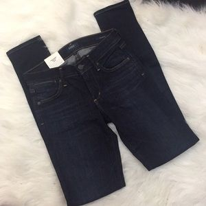 "AGOLDE Colette Skinny Jeans Sz 24, in ""abyss"" NWT"